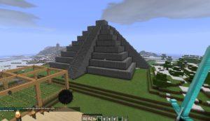 Pyramide Maya avec Minecraft