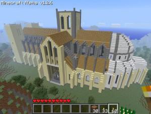 Construction d'une cathédral avec Minecraft