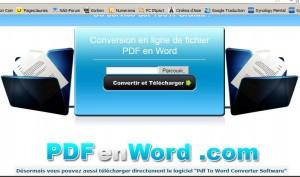Conversion pdf en word