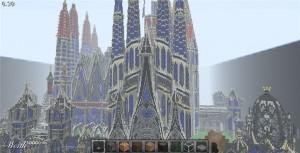 La Sagrada Familia avec Minecraft