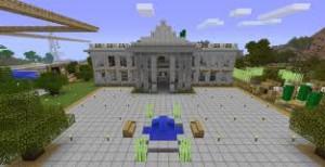 La Maison Blanche à Washington avec Minecraft