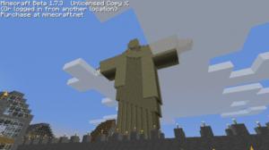 Le Christ de Rio à Rio de Janerio avec Minecraft