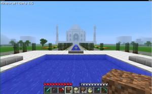 Le Taj Mahal avec Minecraft