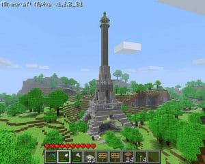 Tour Eiffel de Paris avec Minecraft