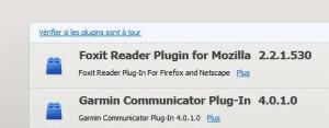 Vérifier plugins