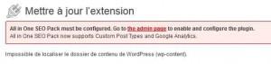 Impossible de localiser le dossier de contenu de WordPress (wp-content).