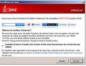 Mise a jour Java Ask