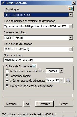 Rufus - images ISO sur USB