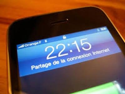 Partage de connexion avec un Iphone en Wifi – astuce